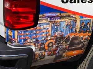 truck wrap detail