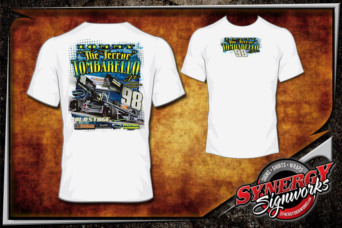 Custom racing t shirts synergy signworks for Racing t shirts custom